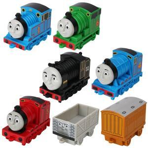 きかんしゃトーマス トーマスの7両連結セット  手転がしのトーマスとなかまたちセット! トーマスの主...