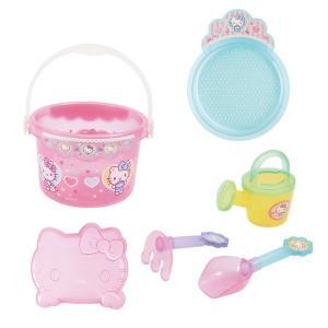 ハローキティ キティちゃん おもちゃ バケツセット お砂場遊び 砂場セット 3歳 4歳 5歳 知育玩具|dream-realize