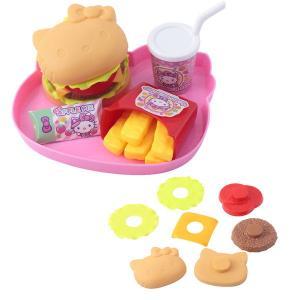 ハローキティ キティちゃん おもちゃ モグモグフードコート ハンバーガーやさん おままごと 女の子 3歳 4歳 5歳 知育玩具|dream-realize