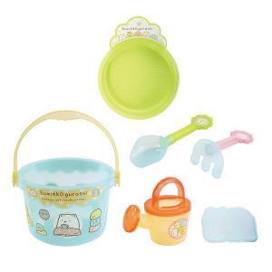 すみっコぐらし おもちゃ バケツセット お砂場セット スコップ  くまで  ふるい じょうろ お風呂でも 3歳 4歳 5歳 知育玩具|dream-realize