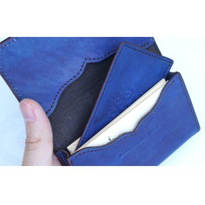 福山レザー 藍染マチ付き名刺入れ エペ 中仕切り付き カードケース 名刺ケース カード入れ 男女兼用 メンズ レディース 男性用 女性用 青色 ブルー 革製品 dream-realize
