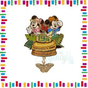 ミッキー&ミニー ピンバッジ 19周年 アニバーサリー 19th トレイル バッチ ディズニー グッ...