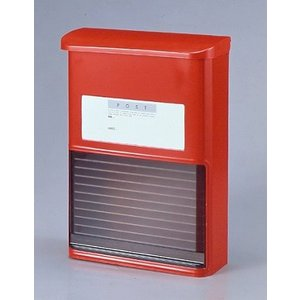 人気の郵便ポスト 郵便受け スライドドアタイプ ST-15 カラーはレッドとホワイト|dreamaki