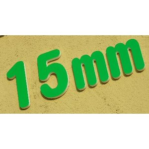15mm厚の切り文字 カルプ材200角|dreamaki