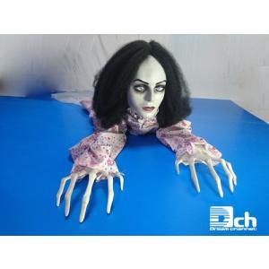 迫りくる恐怖 這う女 とっても恐子さん ホラーグッズ ホラーアイテム ハロウィン 人形 おもちゃ お化け屋敷 文化祭 学園祭 恐怖人形 ゾンビ おばけ