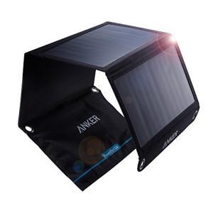 ソーラーモバイルバッテリー Anker PowerPort Solar (21W 2ポート USB ...