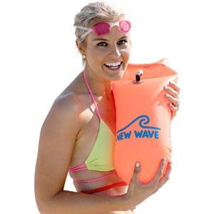防水ケース New Wave Swim Buoy スイムブイ 水泳ブイ オープンウォータースイマー、...