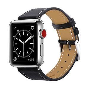 BRG コンパチブル apple watch バンド,本革 ビジネススタイル アップルウォッチバンド...