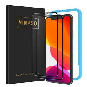 【ガイド枠付き】 【2枚セット】 Nimaso iPhone XR 用 全面保護フィルム 強化ガラス...
