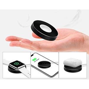 【2in1 充電器】Apple watchとQi対応スマートフォンをこの商品1つで充電可能。 【対応...