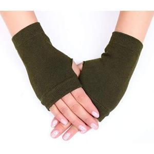 「クリスマスギフト」手袋 指なし 綿 グローブ コットン ハンドウォーマー アームウォーマ 長め 冷...