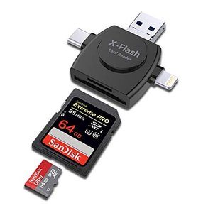 PAFOR SDカードリーダー iPhone Android Type-C USB 全対応 4in1...