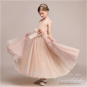 子どもドレス お呼ばれ 結婚式 大きな花キッズドレス ジュニアコンクール 子供服 女の子 フォーマル...