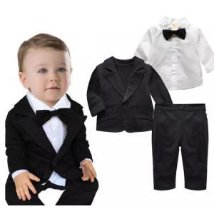 男の子 スーツ ベビースーツ 3点セットジャケット ブラウス...