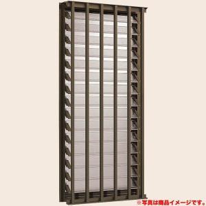 アルミサッシ 面格子付ダブルガラスルーバー窓 07413 寸法 W780×H1370 LIXIL/リクシル デュオPG サッシ 窓 リフォーム DIY