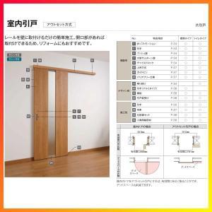 室内引戸 片引き戸 標準タイプ アウトセット方式 ラシッサS パネルタイプ LAA 1320/1620/1820 リクシル トステム 片引戸 ドア リフォーム DIY|dreamotasuke|07