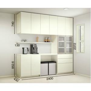 ヴィータス ダイニングキッチン用収納 おすすめプラン BK05 LVB-A-BK05-□□ LIXIL/リクシル Vietas 食器棚 カップボード 組み立て家具 インテリア リフォームの画像