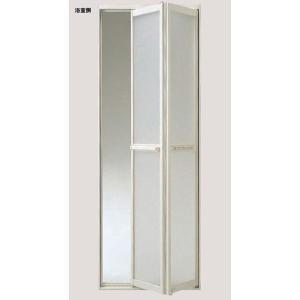 旧浴室ドア LIXIL/リクシル浴室中折ドアME型取替用 外付 S-200-744J 樹脂パネル DW730×DH2000mm(扉本体のみ・枠供給不可) アルミサッシ|dreamotasuke
