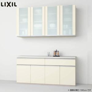 食器棚 キッチン収納 リクシル/LIXIL シエラ 収納ユニット 壁付型カウンタープラン 1段引出し付 開き扉 W1800〜1200mm 間口幅180〜120cm グループ1の写真