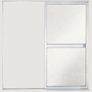 浴室引戸(引き戸) 枠付 片引戸(引き戸)・外引き型(脱衣室側) 樹脂パネル S-16-18 W1670H1818 LIXIL/リクシル アルミサッシ|dreamotasuke