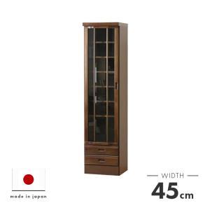 本棚 書棚 完成品 扉付き 幅45cm 和風  送料無料|dreamrand
