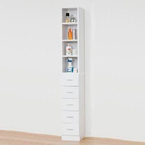 隙間収納 隙間家具 木製 幅25cm 鏡面 ホワイト 白 送料無料|dreamrand