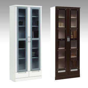 本棚 書棚 完成品 扉付き 幅70cm 設置無料|dreamrand