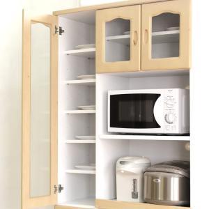 食器棚 レンジ台 キッチン収納 完成品 幅90cm カントリー おしゃれ|dreamrand|03