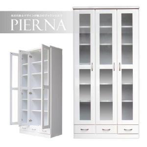 本棚 書棚 完成品 扉付き 幅90cm ホワイト 白 設置無料|dreamrand