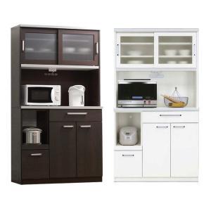食器棚 完成品 レンジ台 幅105cm 引き戸 おしゃれ 送料無料|dreamrand