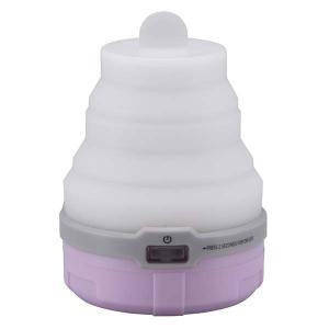 LEDソフトトップランタン( 単4形 3本使用 ピンク)LN-M12K6-P 乾電池式 3段階 ポップアップ 7色に輝く|dreamrelife-store