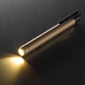 LEDペンライト(電球色/単4形×2本使用/ゴールド)LH-PY1L-G 衝撃に強い アルミボディ 軽量 防水|dreamrelife-store