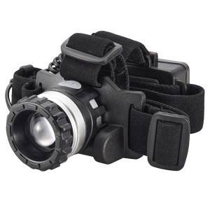 LEDヘッドライト(150lm/単4形×3本使用/連続使用時間5時間/ブラック)ズーム機能付  防水 LC-Z15C7-K 白色系LED 角度調節 |dreamrelife-store