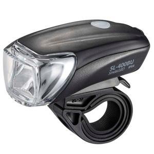 USB充電式 LEDサイクルライト SL-400BU-K 下方照射重視多面体反射鏡 4モード調光機能 簡単充電 充電池残量インジケーター付 防水|dreamrelife-store