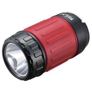 LEDマルチライト(単3×4本付属/レッド)LH-S13A7-R 伸縮自在 明るさ2段階(強・弱)切替 防水 アウトドアやDIY作業に dreamrelife-store