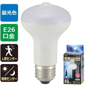 LED電球(40形相当/557lm/昼光色/E26/人感・明暗センサー付)LDR5D-W/S 9 人が近付くと自動点灯、離れると120秒後自動消灯|dreamrelife-store