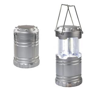 LEDスライドランタン アクトライト・ミニ  シルバーFIN-663SLS 単4形×3本 連続点灯時間:約48時間|dreamrelife-store