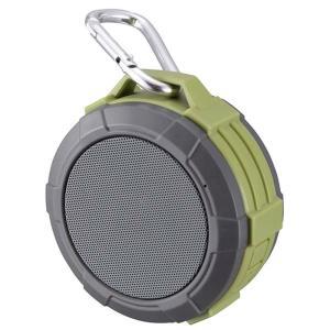 Bluetooth ワイヤレスアウトドアスピーカー ASP-W170N 手のひらサイズ、軽量、カラビナ付き 重低音&高音質 USB充電式  防水|dreamrelife-store