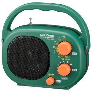 豊作ラジオDX RAD-F439N 水しぶきに強いAM・FMラジオ ワイドFM対応 大口径スピーカー FMロッドアンテナ搭載|dreamrelife-store
