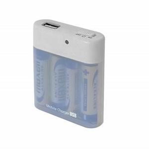 エアージェイ USB対応 電池式充電器 BJ-USB ON/OFFスイッチ&オペレーションランプ付 単3乾電池×4本付|dreamrelife-store