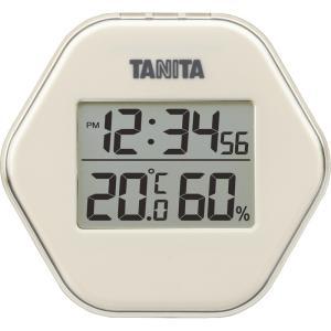 タニタ デジタル温湿度計 アイボリー TT-573IV 時計 日付表示 過去の最高・最低温湿度表示機能 マグネット・スタンド付 dreamrelifeshop2