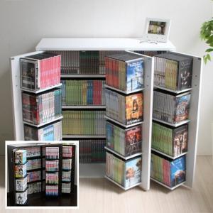 日本製 DVDラック DVD400枚 CD・コミック収納 本棚 ホワイト・ダークブラウン JS70-DBR/WH|dreamrelifeshop2