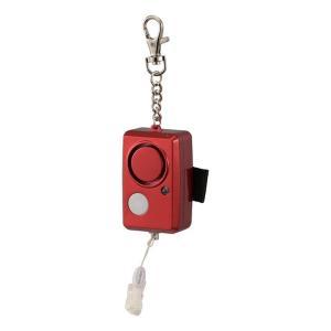 LEDライト付 防犯ブザー(レッド)OSE-JCA226-R 大音量ブザーと同時にLEDライトも点滅 固定ベル付 雨にも強い防雨構造|dreamrelifeshop2