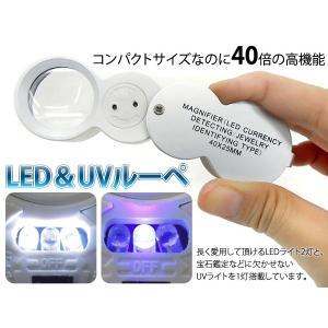 ルーペ LEDライトルーペ 40倍 拡大鏡 dreamstore-y