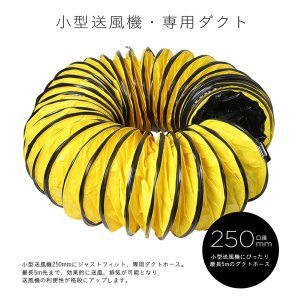 送風機 ホース ダクトホース 5m 250mm ファン