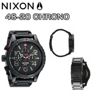 NIXON(ニクソン)48-20 CHRONO(48-20クロノ)【オールブラックマルチ】A486-132 正規品|dreamy1117