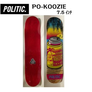 POLITIC(ポリティック)スケートボード デッキ 7.5インチ dreamy1117