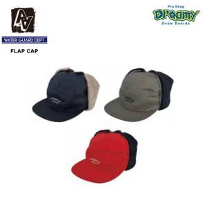 AA HARDWEAR ダブルエー FLAP CAP 72719701 キャップ ウォーターガード イヤーフラップ フライトキャップ ロゴ 帽子 スノーボードウェア 2019-20モデル 正規品|dreamy1117