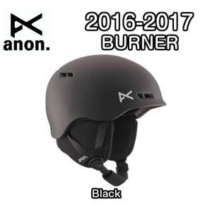 16-17 anon BURNER ヘルメット ダイヤルサイズ調整可 キッズ ジュニア Black アノン Boa スノーボード Snowboards 2017モデル 国内正規品|dreamy1117
