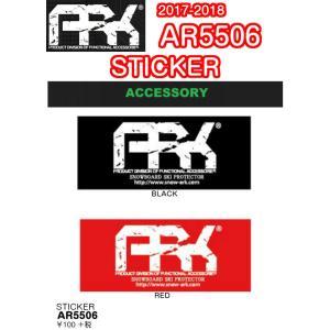 ARK エーアールケー STICKER AR5506 BLACK RED ステッカー スノーグッズ スノーボード 2018モデル 正規品|dreamy1117